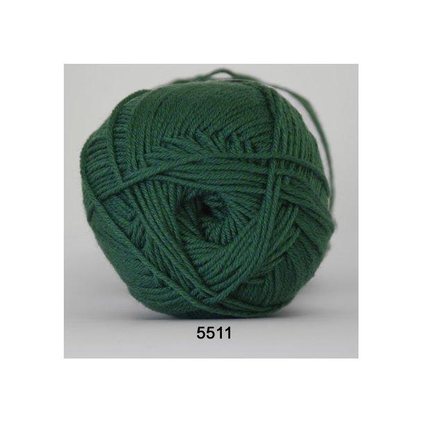 Hjertegarn - Lana Cotton 5511 Mørkegrøn