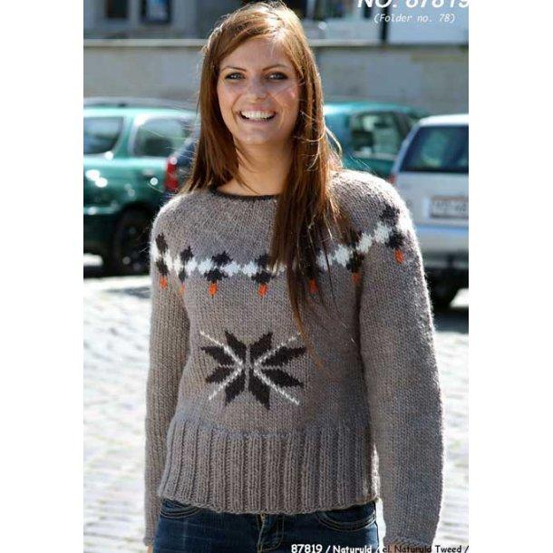 Strikkeopskrift - Sweater med stjerne