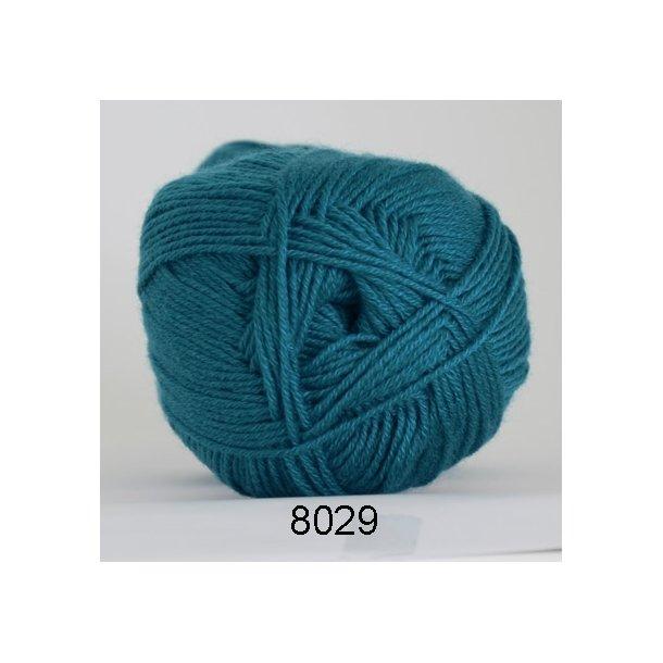 Hjertegarn - Lana Cotton 8029 Mørk turkis