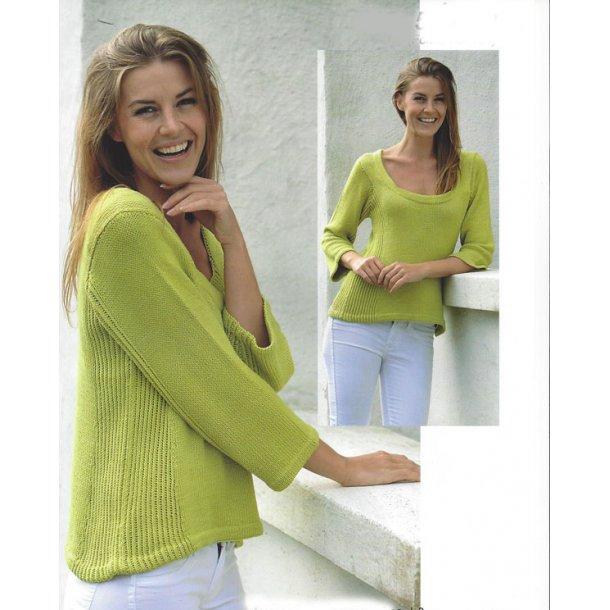Bluse med ribeffekt