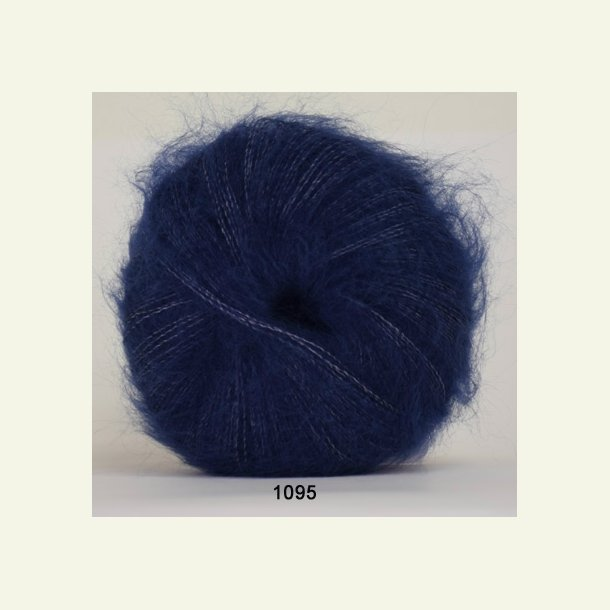 Hjertegarn - Silk Kid Mohair 1095 Mørkeblå