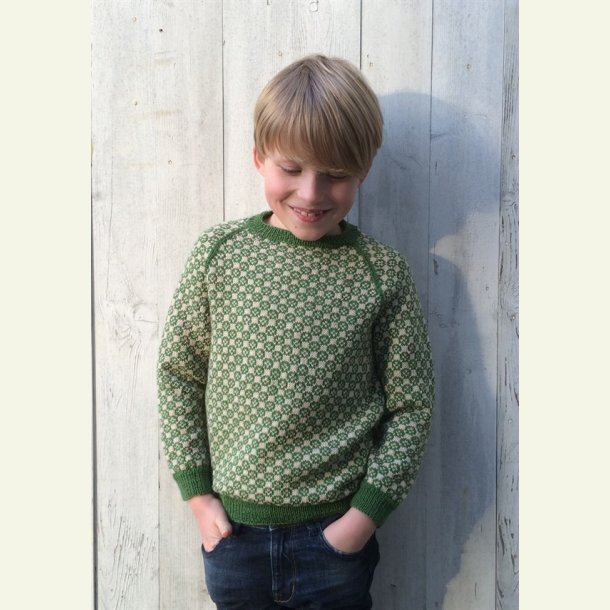 Strikkekit - Carl-Emils sweater fra CaMaRose. Str. 4-5 år