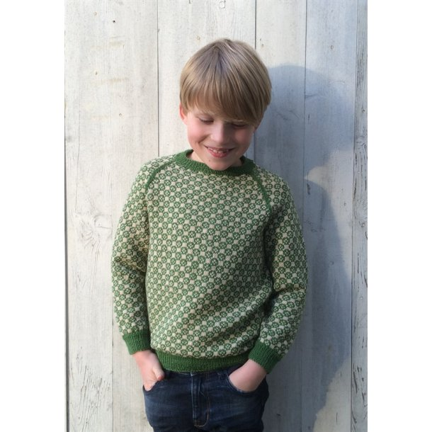 Strikkekit - Carl-Emils sweater fra CaMaRose. Str. 6-9 år