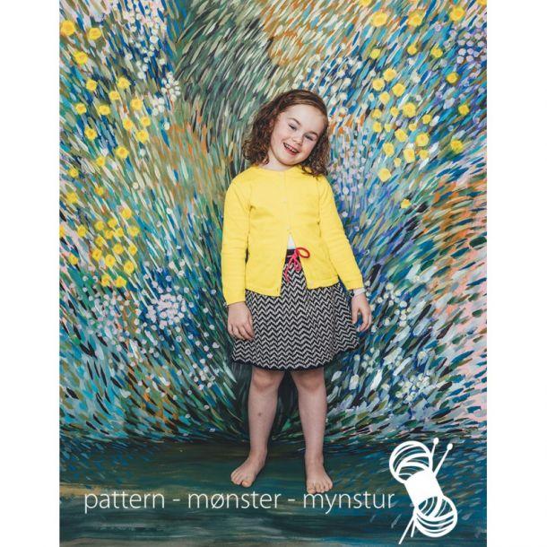 Strikkekit - Mønstret nederdel str. 4-6 år - Navia