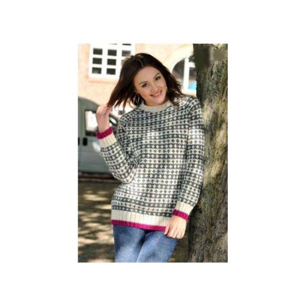 Sweater med raglanærmer - Sælges kun med garn