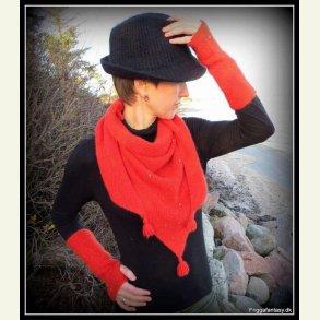Strikkekit - Tørklæde og pulsvarmere i minkgarn