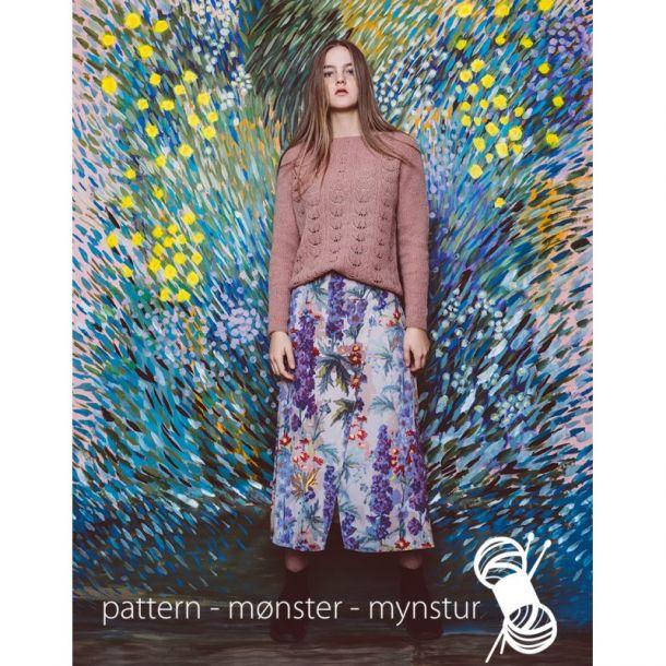 Strikkekit - Oversize bluse med hulmønster str. M/L - Navia