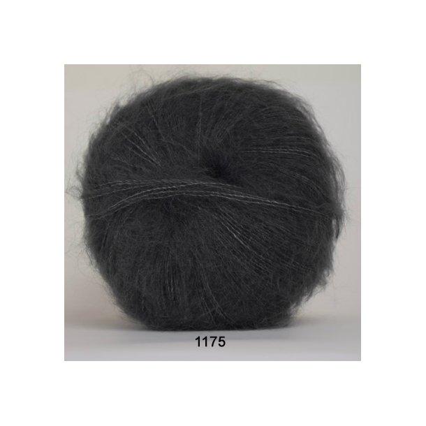 Hjertegarn - Silk Kid Mohair 1175 Mørk grå